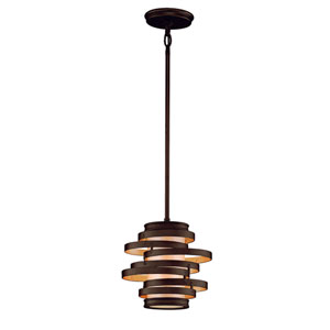 Vertigo Bronze with Gold Leaf One-Light Mini Pendant