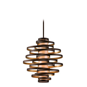 Vertigo Bronze with Gold Leaf Four-Light Fluorescent Pendant