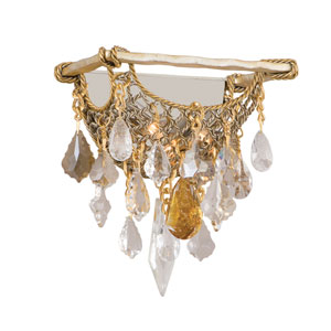 Barcelona Silver And Gold Leaf Two-Light Wall Sconce