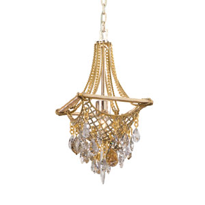 Barcelona Silver And Gold Leaf One-Light Mini Pendant