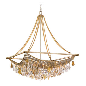 Barcelona Silver And Gold Leaf Eight-Light Large Pendant