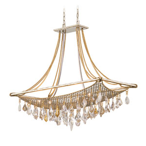 Barcelona Silver And Gold Leaf Eight-Light Island Pendant