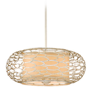 Cesto Modern Silver Three-Light Convertible Pendant
