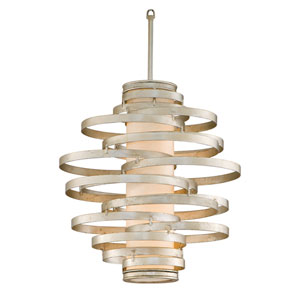Vertigo Modern Silver Two-Light Fluorescent Pendant