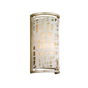 Kyoto Silver Leaf One-Light Wall Sconce