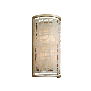 Kyoto Silver Leaf Two-Light Wall Sconce