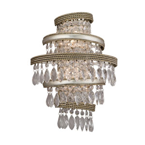Diva Silver Leaf with Gold Two-Light Wall Sconce