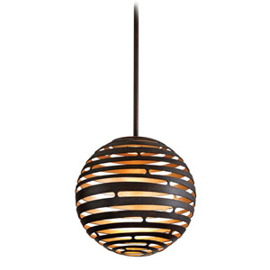 Tango Textured Bronze Small One-Light LED Pendant