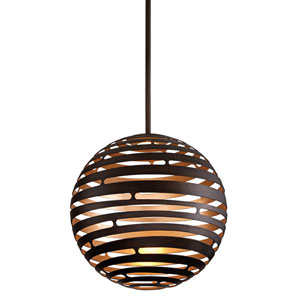 Tango Textured Bronze Medium One-Light LED Pendant