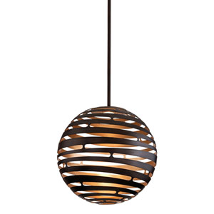 Tango Textured Bronze Large One-Light LED Pendant