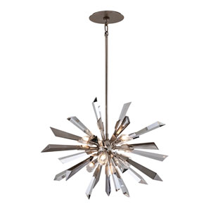 Inertia Silver Leaf Medium Six-Light Pendant