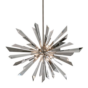 Inertia Silver Leaf Eight-Light Pendant