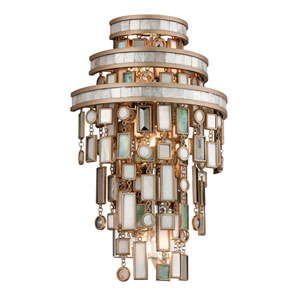 Dolcetti Silver Three-Light Wall Sconce
