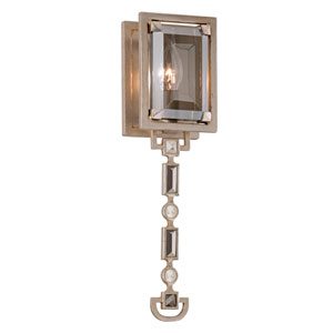 Paparazzi Silver Leaf Small One-Light Wall Sconce