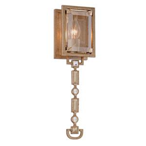 Paparazzi Topaz Leaf Small One-Light Wall Sconce