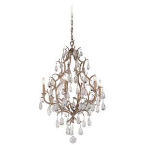 Amadeus Vienna Bronze Six-Light Chandelier with Italian Drops