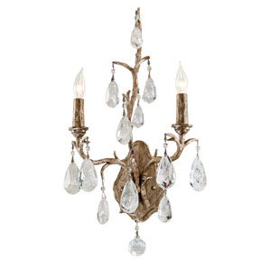 Amadeus Vienna Bronze Two-Light Wall Sconce with Italian Drops