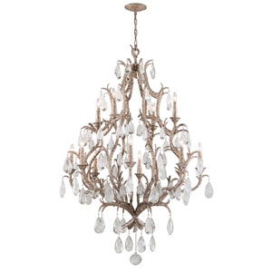 Amadeus Vienna Bronze 12-Light Chandelier with Italian Drops