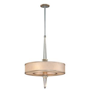 Harlow Tranquility Silver Leaf with Polished Stainless Accents Six-Light LED Pendant