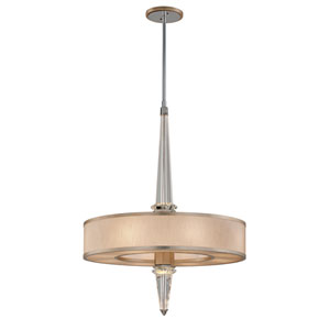 Harlow Tranquility Silver Leaf with Polished Stainless Accents Eight-Light LED Pendant