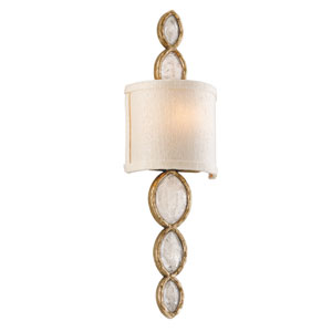 Fame and Fortune Brazilian Silver Leaf One-Light Wall Sconce
