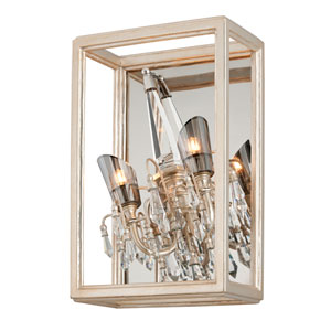 Houdini Silver Leaf With Gold Two-Light 50-Inch Wall Sconce