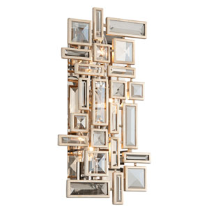 Method Tranquility Silver Leaf Three-Light Wall Sconce