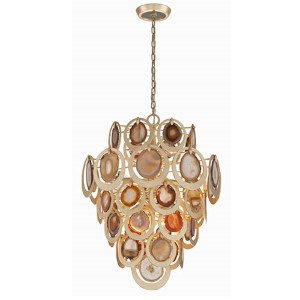 Rock Star Gold Leaf 10-Light Pendant