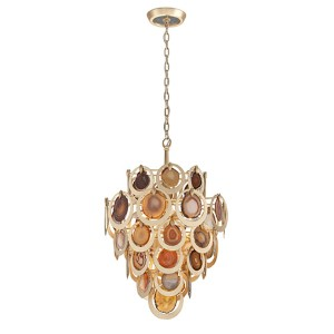 Rock Star Gold Leaf Six-Light Pendant