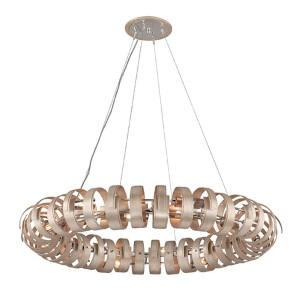 Recoil Textured Antique Silver Leaf 14-Light Pendant