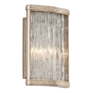 Pipe Dream Polished Stainless with Silver Leaf One-Light Wall Sconce