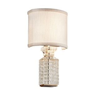 Player Polished Stainless with Silver Leaf Two-Light Wall Sconce