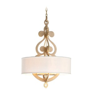 Olivia Satin and Polished Brass Eight-Light Pendant