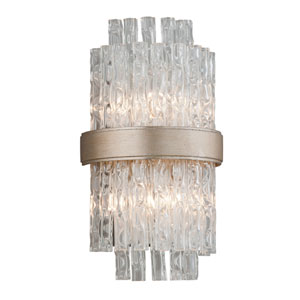 Chime Silver Leaf 8-Inch Two-Light  Wall Sconce