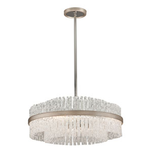 Chime Silver Leaf 27-Inch Eight-Light Pendant