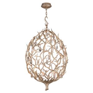 Enchanted Enchanted Silver Leaf 26-Inch One-Light LED Pendant