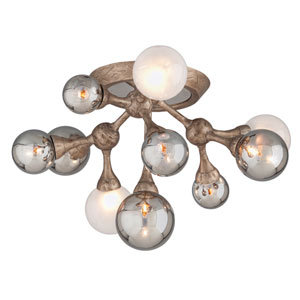Element Vienna Bronze 23-Inch Ten-Light Semi-Flush Mount