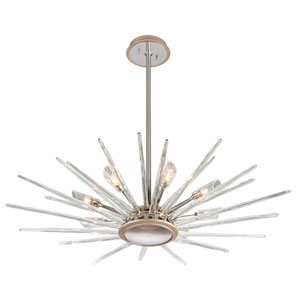 Chill Silver Leaf 44-Inch Eight-Light  Pendant