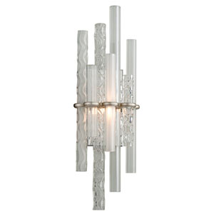 Manhattan Satin Silver Leaf LED One-Light Wall Sconce