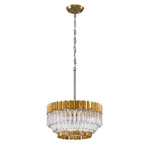 Charisma Gold Leaf Five-Light Pendant