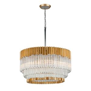 Charisma Gold Leaf Eight-Light Pendant