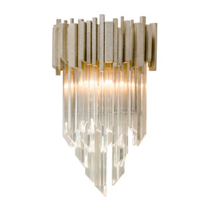 Mystique Modern Silver Leaf One-Light Wall Sconce