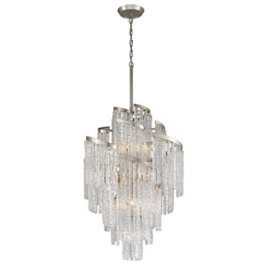 Mont Blanc Modern Silver Leaf 36-Inch Thirteen-Light Chandelier