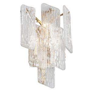 Piemonte Royal Gold 12-Inch Three-Light Wall Sconce