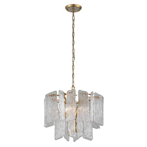 Piemonte Royal Gold 23-Inch Four-Light Chandelier