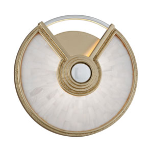 Venturi Gold Leaf with Polished Stainless Accents 10-Inch LED Wall Sconce