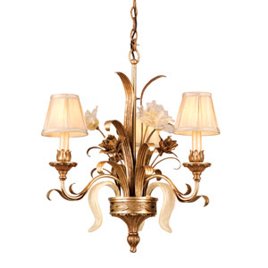 Tivoli Silver Three-Light Chandelier
