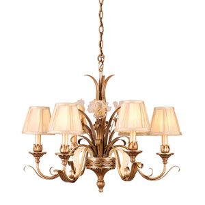 Tivioli Silver Six-Light Chandelier
