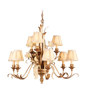 Tivoli Silver Nine-Light Chandelier