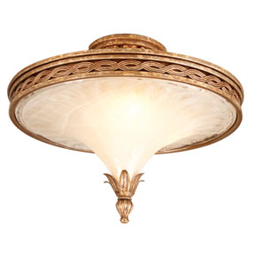 Tivoli Silver Three-Light Semi Flush
